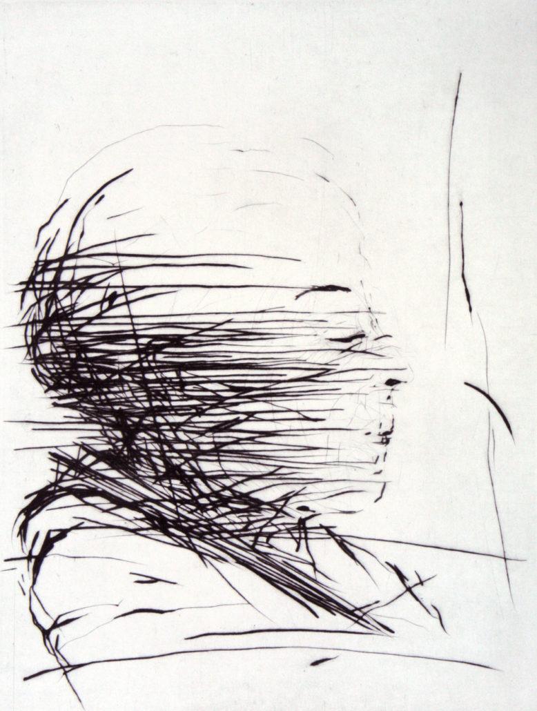 2011 Madeleine Heublein, Erwartung, Kaltnadelradierung