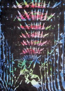 Manja Barthel, Teilstückgasse, 2016, Linoldruck auf Holzdruck, 42 x 29,7 cm