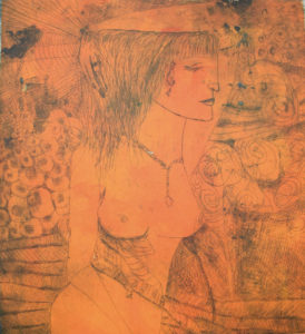 Ines Falcke (inesj.plauen), Eulalia, 2016, Radierung (2 Platten), 33 x 30 cm