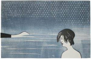 Inka Grebner, Passage, 2016, Linolschnitt, Holzschnitt, Materialdruck, 29,5 x 45 cm