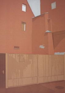 Sebastian Harwardt, Große Märkerstraße, 2015, Farbholzschnitt, 60 x 42 cm