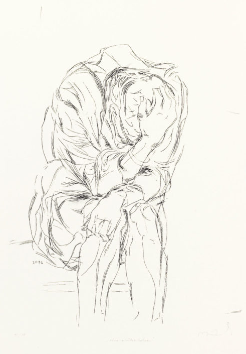 Reinhard Minkewitz, Ohne zurückzukehren, 2016, Lithografie, Steinritzung, 43 x 31 cm