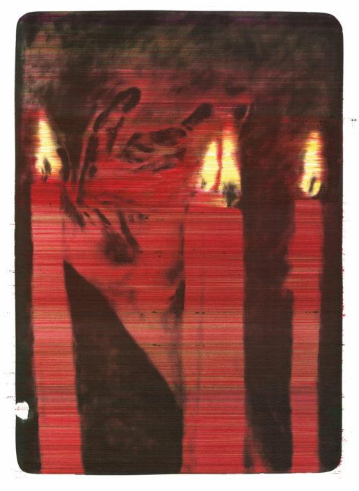 Claus Georg Stabe, Transition I, 2016, Kugelschreiber auf Steindruck, 53 x 37,5 cm