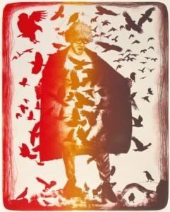 2018 Patrick Fauck, Franz aus Leipzig (Vogelpredigt oder einfach Birdy), Lithografie