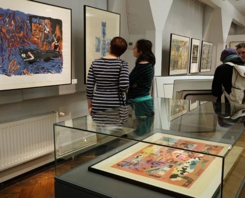 Blick in die Ausstellung der 35. Leipziger Grafikbörse