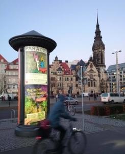 35. Leipziger Grafikbörse – Citylight zur Ausstellung im Museum für Druckkunst