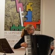 35. Leipziger Grafikbörse – Musikalische Umrahmung von Anne-Kathrin Köhn (Akkordeon)
