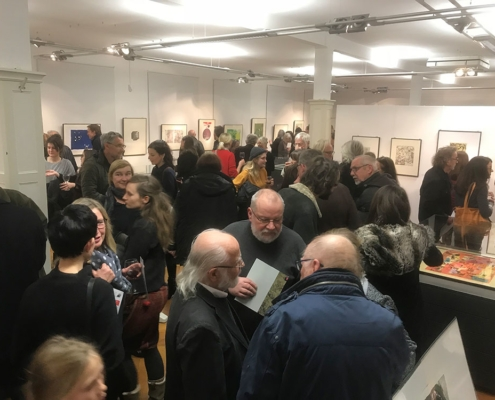 Eröffnung der 35. Grafikbörse am 29.11.2018 im Museum für Druckkunst