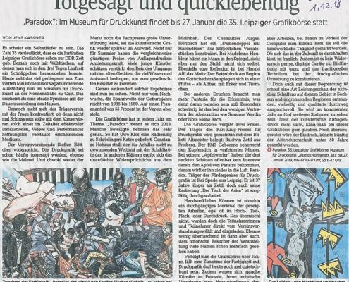 Rezension in der Leipziger Volkszeitung vom 1.12.2018