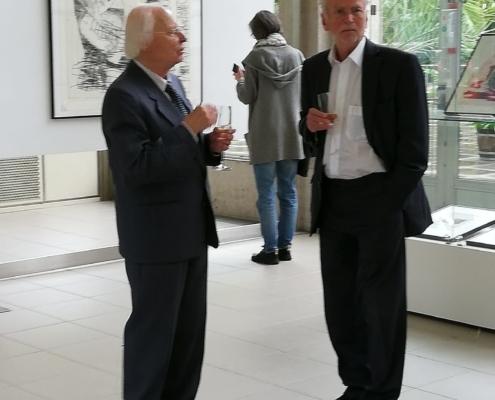 Herr Behrends und Herr Böttcher von der Grafikbörse Leipzig